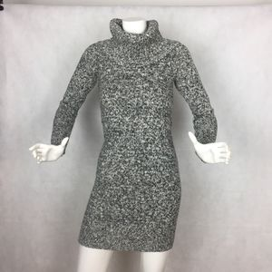 The Limited Sweater Turtleneck Tunic Black White